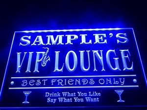 DZ039 Name Personalized Custom VIP Lounge Best Friends