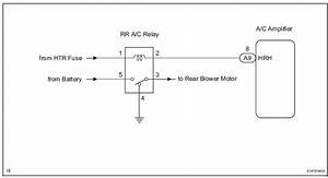 Toyota Sienna Service Manual  Rear Air Conditioning Relay Circuit - Actuator Check