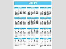 Calendario Anual 2017 Para Imprimir Related Keywords