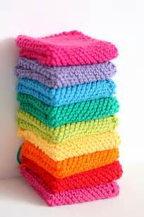 knitted rainbow dishcloths for christmas gifts flickr photo sharing