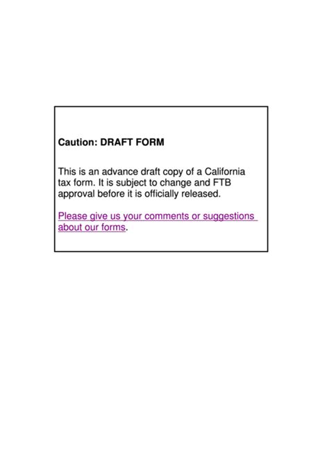 Ftb Form 589 by California Form 589 Draft Nonresident Reduced