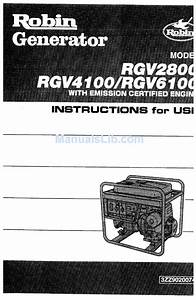 Robin Rgv6100 Instructions For Use Manual Pdf Download