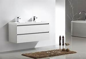 Meuble salle de bain city 120 collection meuble design for Bianco meuble salle de bain