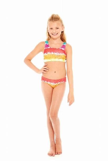 Bikini Bra Sports Rainbow Swim Terez Cake