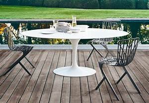 Saarinen, Tulip, Outdoor, Dining, Table, By, Knoll