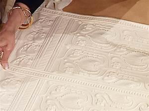 comment peindre sur du papier peint bricobistro With peindre sur papier peint relief