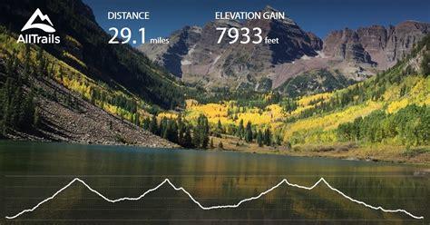maroon bells snowmass colorado wilderness loop trail map alltrails maps