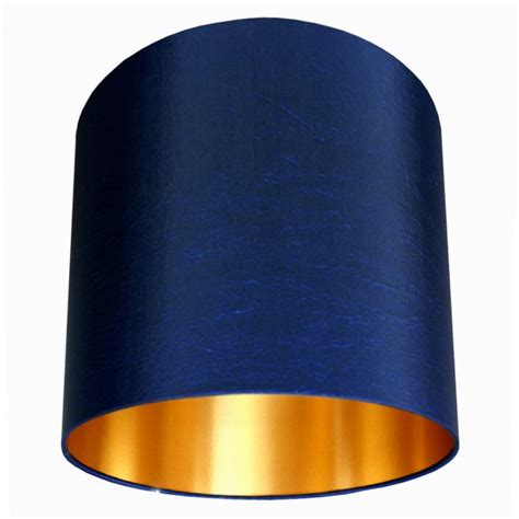 midnight blue handmade lampshade  gold lining love