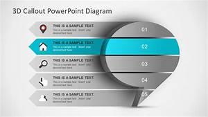 3d Callout Powerpoint Diagram