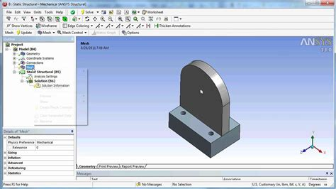 ansys workbench cad transfer  solidworks design