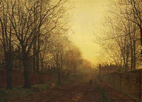wimbledon park autumn  glow  john atkinson