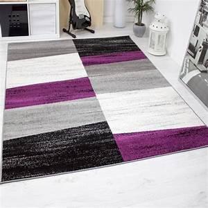 tapis de salon geometriques violet gris blanc et noir With tapis gris et violet