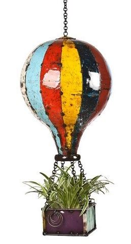 eeieeio hot air balloon hanging planter large