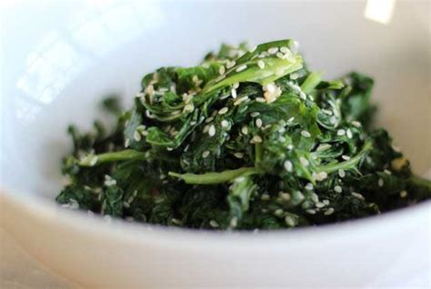 cook kale how to cook kale kale with garlic sesame video recipe