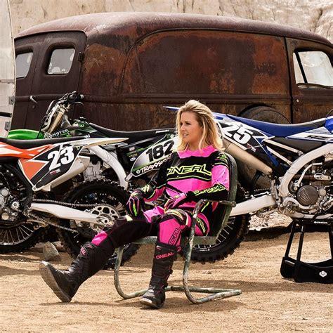 female motocross gear oneal 2017 new ladies mx gear element black hi viz pink