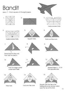 Origami Fighter Jet Paper Airplane Steps