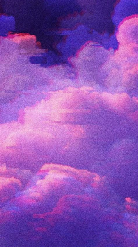 aesthetic purple clouds wallpapers