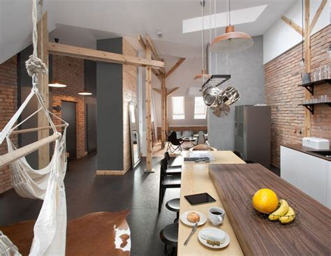 Amazing Loft Apartment Inside 19th Century Building by This Contemporary Loft Apartment Was Built Inside A 19th