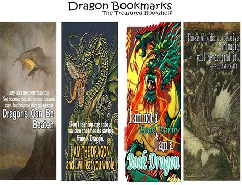 printable dragon bookmarks ezzy