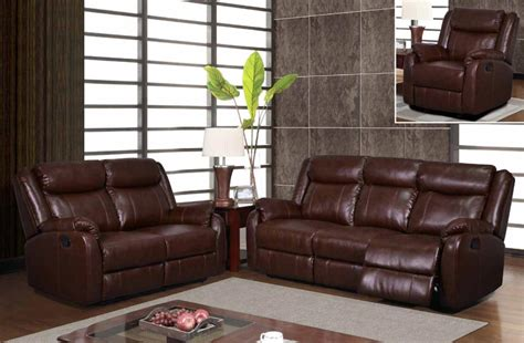 sofa and loveseat sets for sale sale 1598 00 modern brown leatherette reclining sofa set