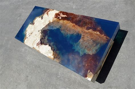 natural stone  resin coffee table brings  soothing