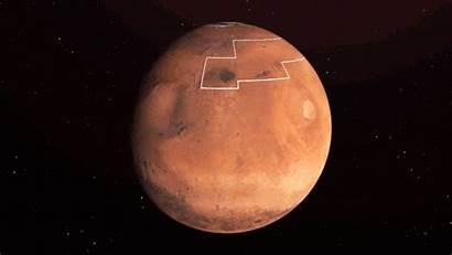 Water Ice Nasa Mars Planet Surface Map