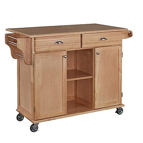 kitchen cart and islands home styles napa rolling kitchen cart bed bath beyond 6500