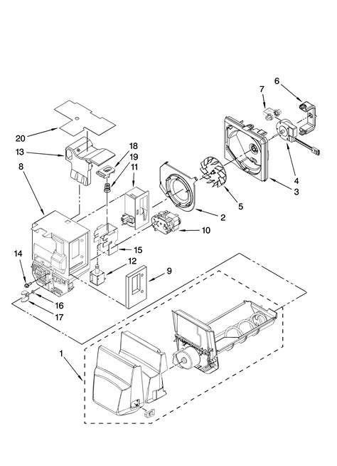 motor  ice container parts diagram parts list