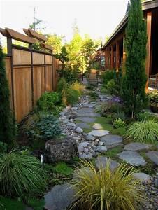 Paravent De Jardin : le jardin paysager tendance moderne de jardinage ~ Melissatoandfro.com Idées de Décoration