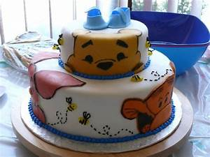 winnie the pooh shower cake cakecentralcom With winnie the pooh cake template