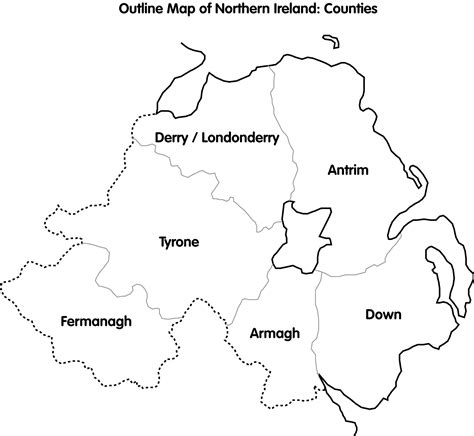 cain maps outline map  northern ireland counties
