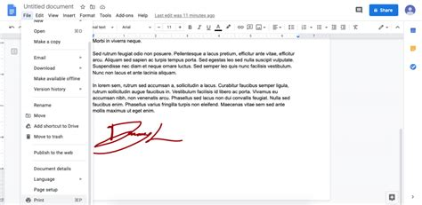 How to Sign a Document in Google Docs Without Any Hassle ...