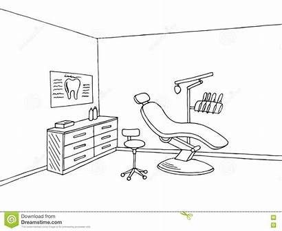Dentist Clinic Office Sketch Dental Clip Graphic