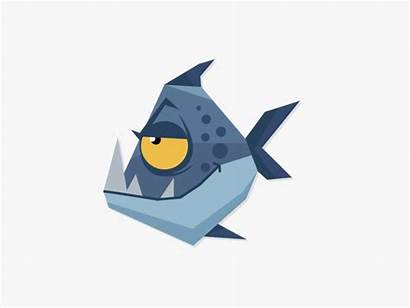 Fish Piranha Animation Motion Fishes Animated Gifs