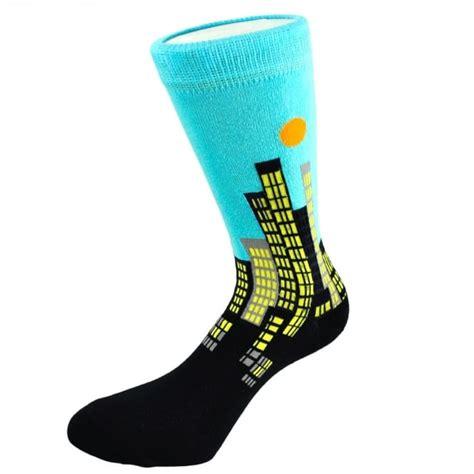 silly socks cityscape mens novelty socks  ties