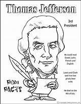 Coloring Jefferson Thomas Presidents Worksheets President Printable Clipart Edison Preschoolers Makingfriends Crafts Printables Template Facts Fact George Washington Kid Presidency sketch template