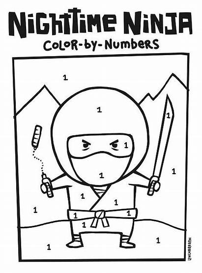 Ninja Coloring Japanese Culture Nighttime Pages Number