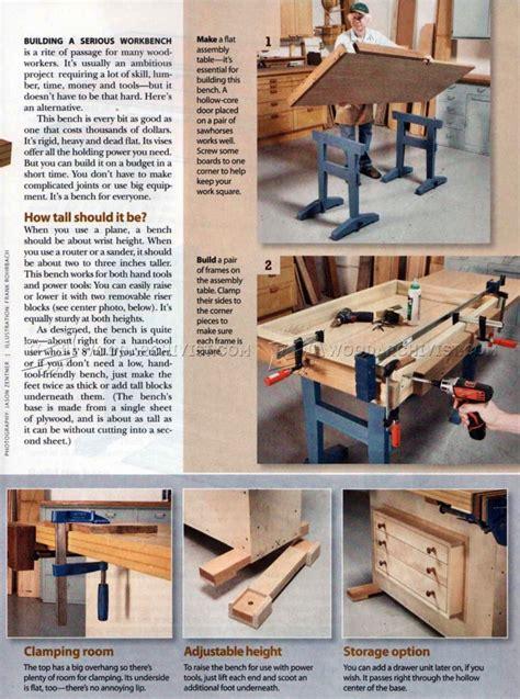 small workbench plans woodarchivist