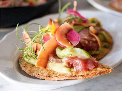 cuisine of california tuna tostada by javier plascencia from the preview event