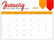 Free January 2019 Calendar PDF, Word, Excel [Download