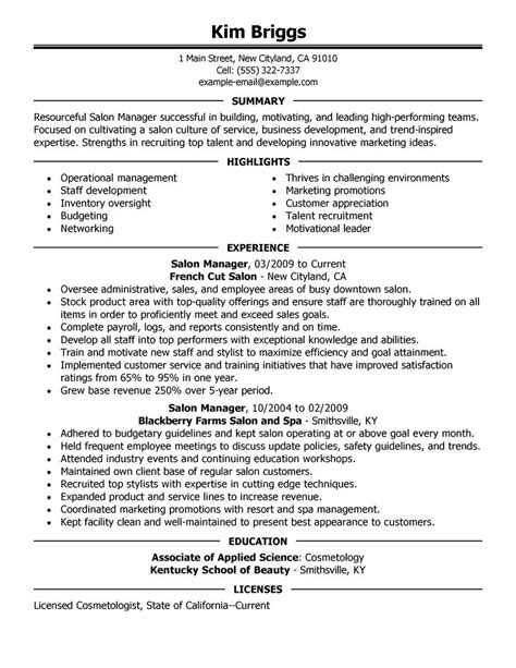 fitness director resume objective big salon spa fitness exle executive 2 design