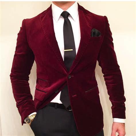 maroon velvet jacket mens arrival slim fit suit costume homme vest formal