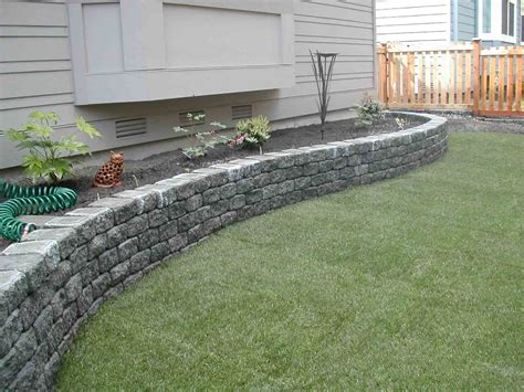 landscaping block ideas stacked stone wall outdoor ideas pinterest