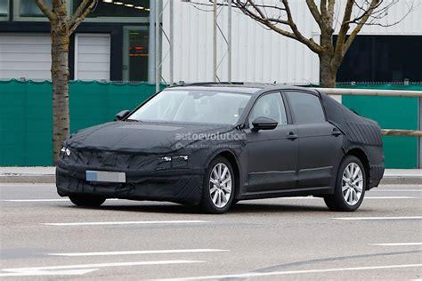 volkswagens long wheelbase plug  hybrid magotan spied