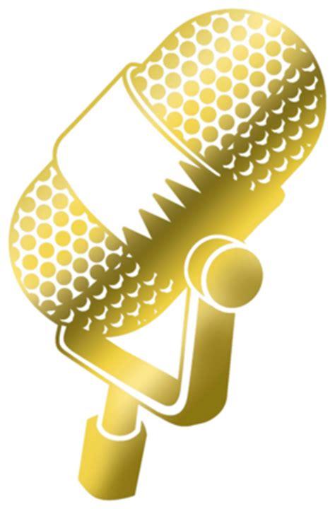 gold mic psd vector graphic vectorhqcom