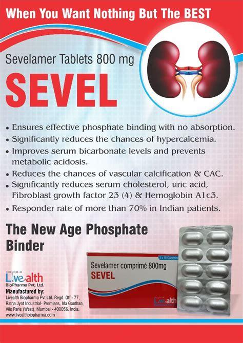 Sevelamer Tablet 800mg, Packaging Size: 3 X 10 Tablets ...