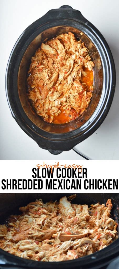 mexican chicken cooker shredded slow easy stupid recipe recipes pot pumpsandiron crock juicy crockpot pumps taco meat tacos flavorful iron