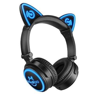 headphones with light up cat ears mindkoo cat ear headphones review meow review hub
