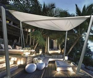 Holz Auf Terrasse : freistehender sonnensegel auf der holz terrasse garten ~ Articles-book.com Haus und Dekorationen