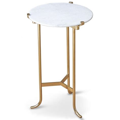 marble and brass side table pavlova hollywood regency brass white marble side table